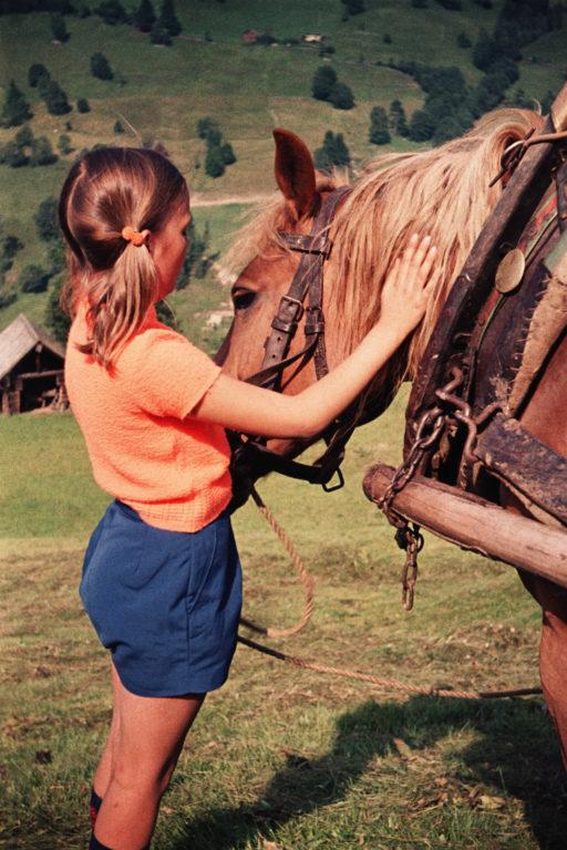 Mädchen mit Pferd, ca. 1964 © Fam. Raab aus Köln