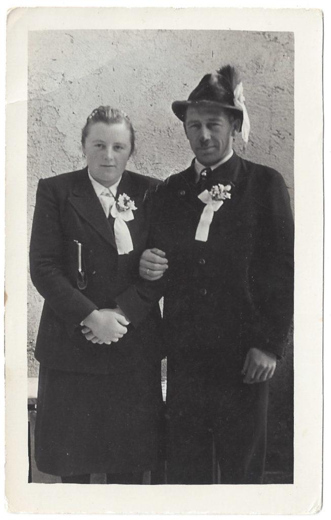 Hochzeit von Anna und Adam Rettensteiner, 1948