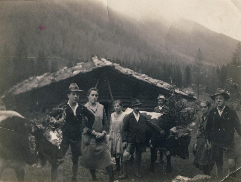 Vorbereitet zum Almabtrieb, ca. 1920