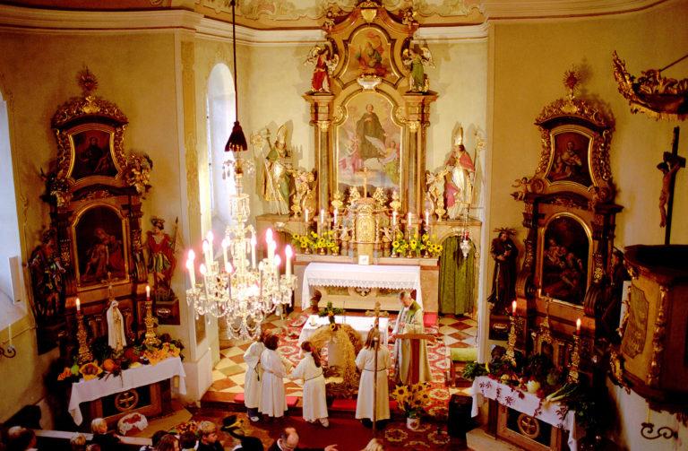 Messe zum Erntedankfest in der Leohnhardskirche Forstau © Tourismusverband Forstau