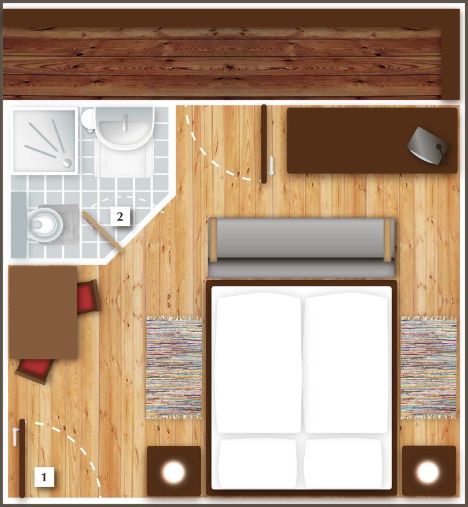 Grundriss – Doppelzimmer