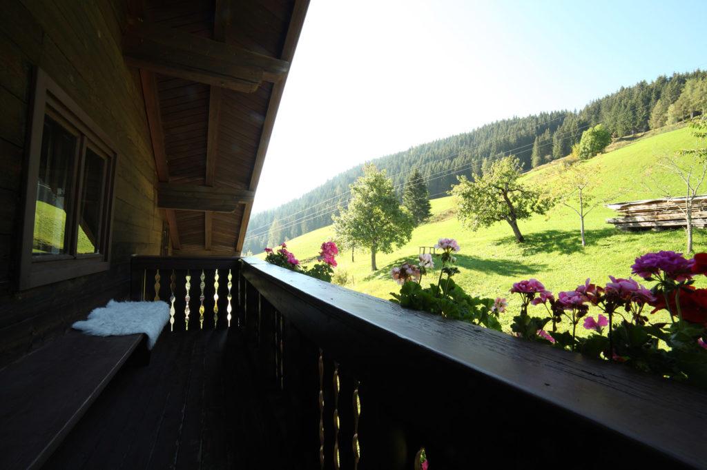 Blick vom Balkon – westseitig