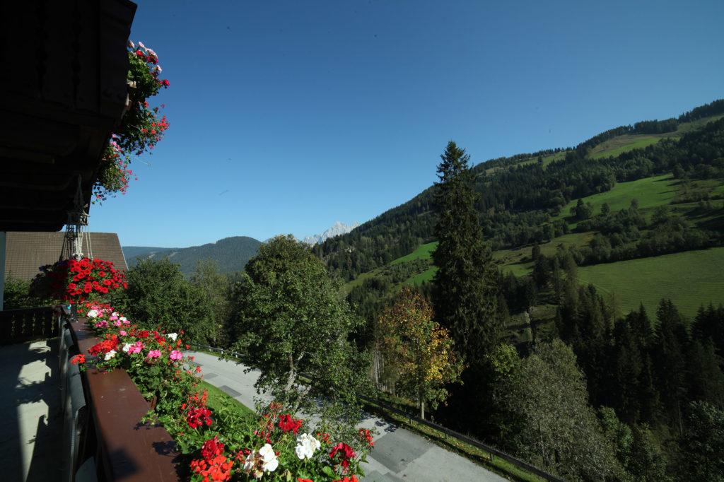 Aussicht vom Balkon Ostseitig