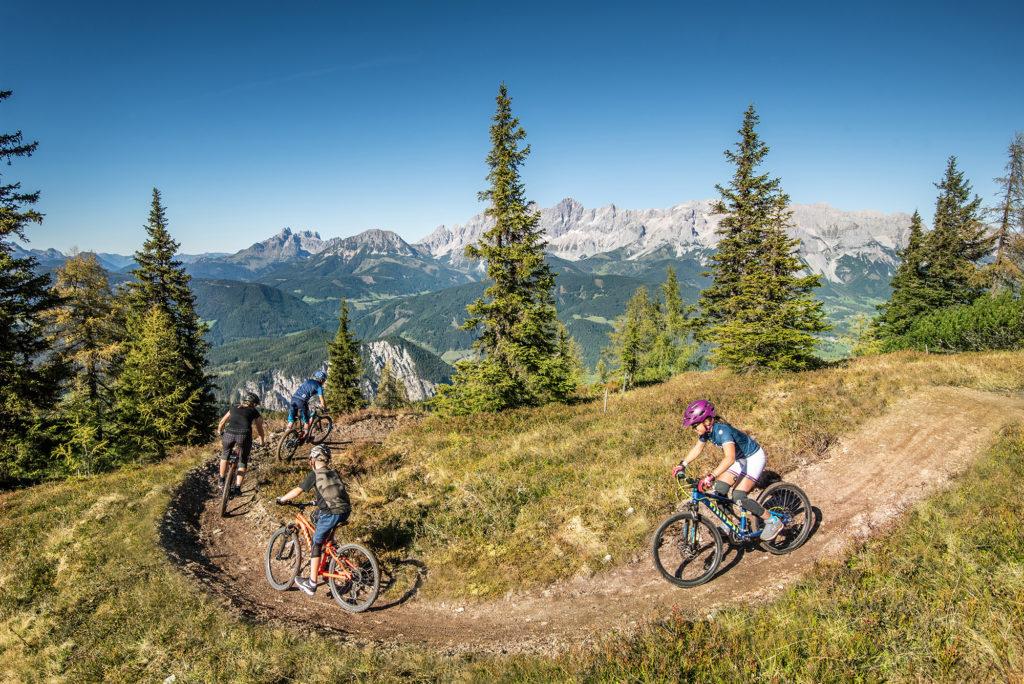 Bike Trail auf der Reiteralm © Lorenz Masser