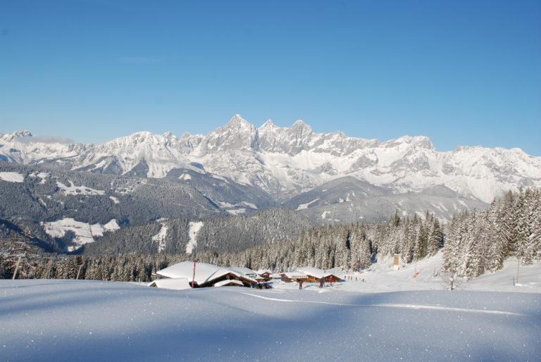 Panorama - Hütten - Naturschnee © Reiteralm Bergbahnen