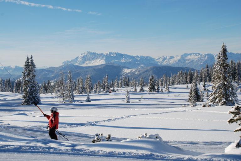 Naturschnee-Pisten auf der Fageralm © Reiteralm Bergbahnen